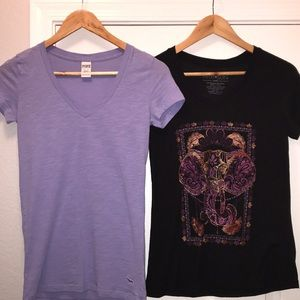 VS Pink lilac tee & Fifth Sun elephant xs/small